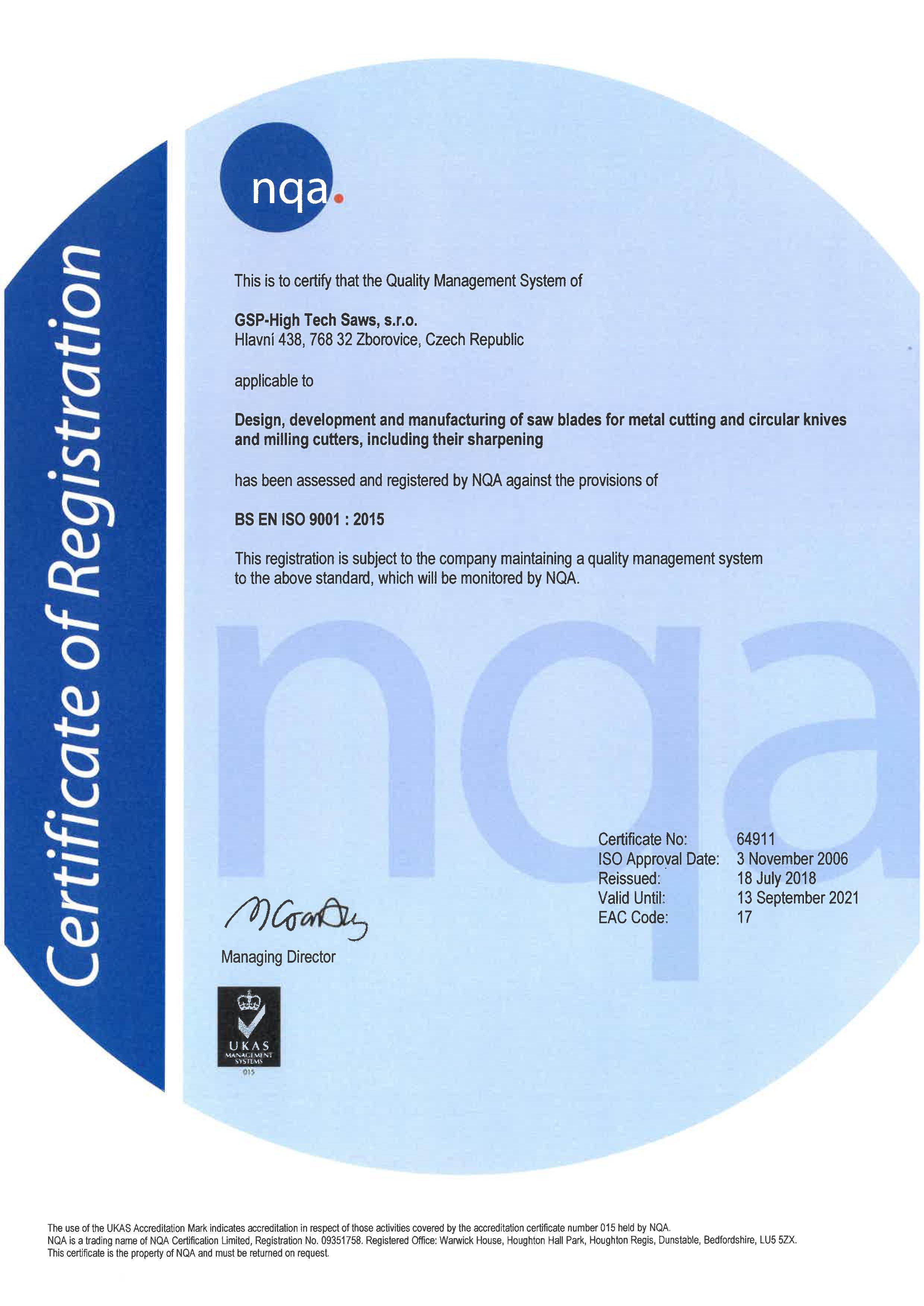 certifikát uk