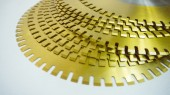 Circular Blades with Catellated Grooves on Perimeter and TiN Coating on Surface for Perforators