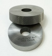Knurling wheels OD 40 mm, thickness 10 mm, ID 12 mm