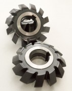 Symmetrical double angle milling cutter made of HSS steel.