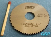 HSS Slitting Saw Blade 40x1,6x10 64A-5